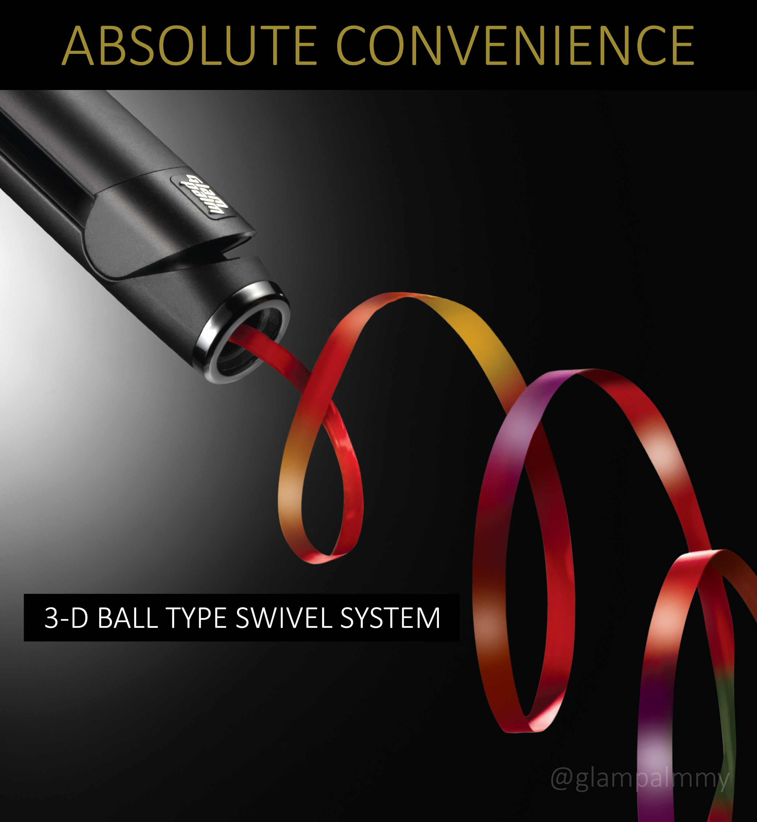 3-D 360° Swiveling and Pivoting Cord